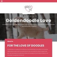 Image of website BrookeMaries Goldendoodle Love